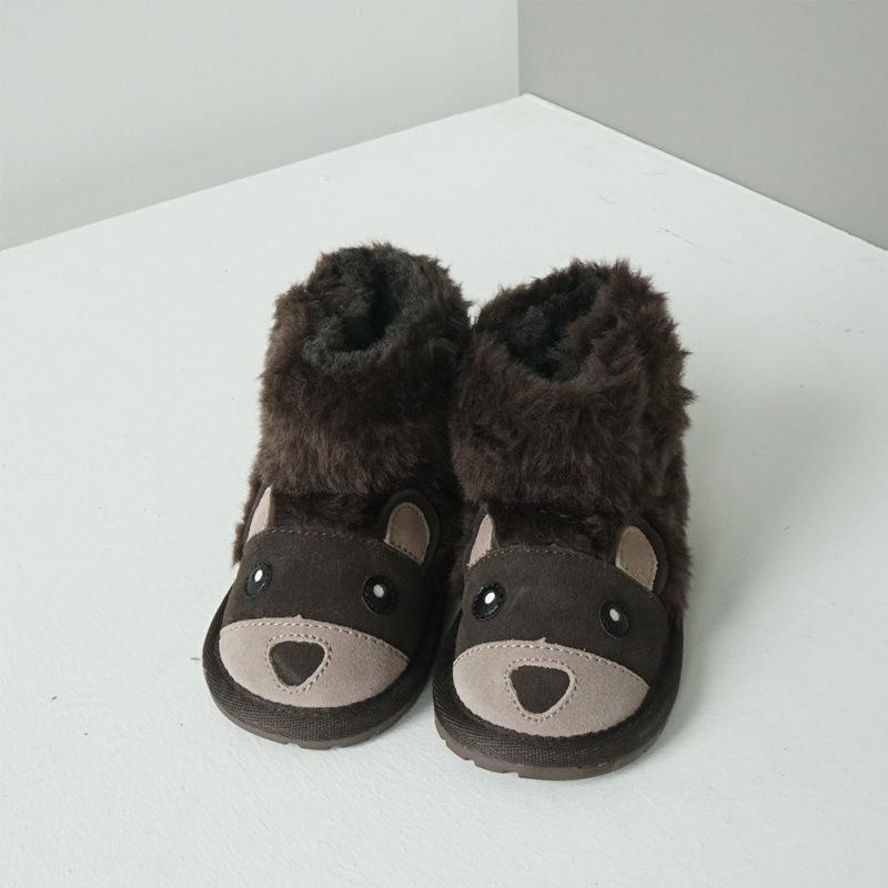 澳洲原单EMU动物款棕熊儿童雪地靴 透气保暖短款小童雪地靴B11197