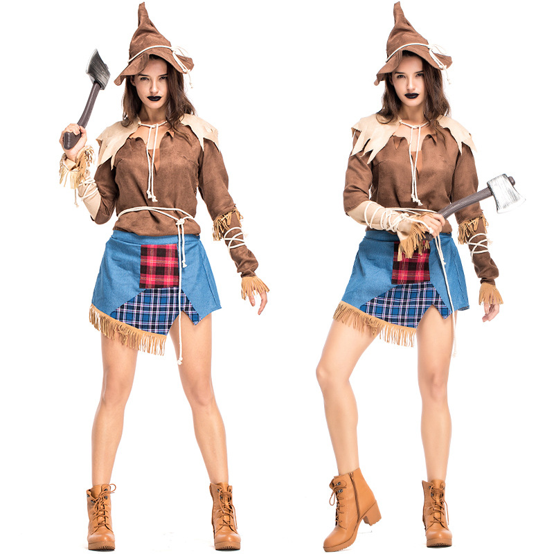 Halloween Cosplay Straw Doll Drama Stage Costume NHFE155271
