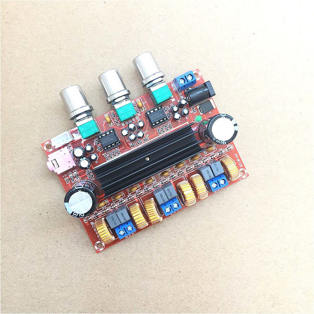2.1声道数字功放板 12V-24V宽电压 TPA3116D2 2*50W+100带外壳