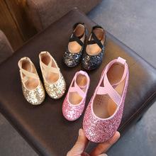 Giày nữ mùa xuân và mùa thu 2019 Phiên bản Hàn Quốc của cô bé công chúa giày học sinh biểu diễn giày khiêu vũ pha lê chống trượt Giày công chúa