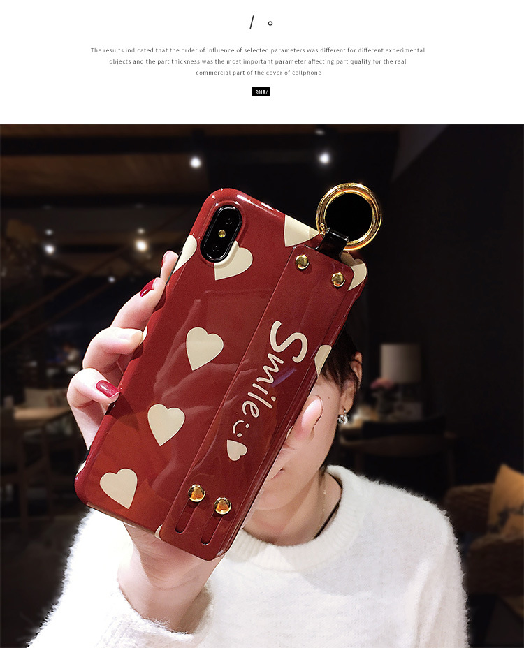 Vintage wine red love wristband xs max apple 8 phone case NHJP126223 For iphoneXs/8plus