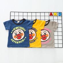 2019外貿童裝 亞馬遜爆款純棉兒童短袖t恤 卡通兒童T恤一件代發