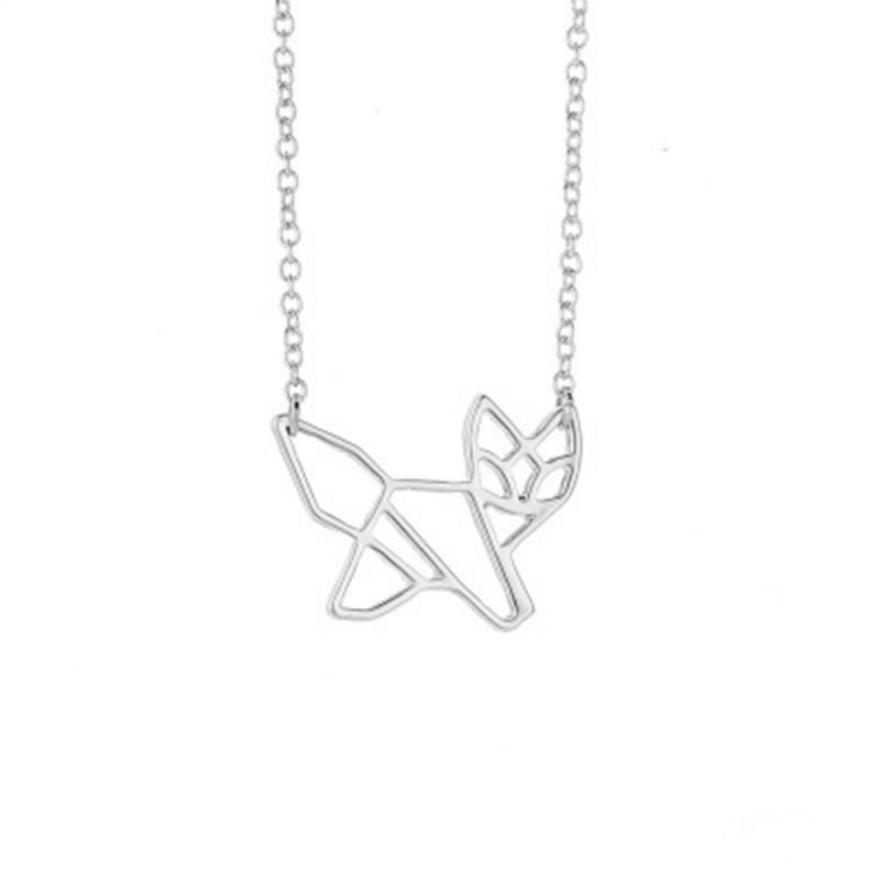 Animal puppy necklace hollow fox necklace animal kitten necklace ladies clavicle chain NHCU206501