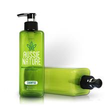 爆款特賣 500ML半透明綠色方形洗發水瓶 高檔PET壓泵式沐浴露瓶子