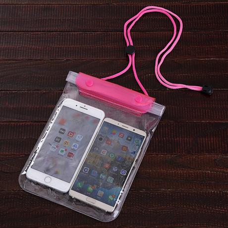 Ba lớp niêm phong thêm snap lớn điện thoại túi chống nước di động phổ quát màn hình cảm ứng lặn thiết lập