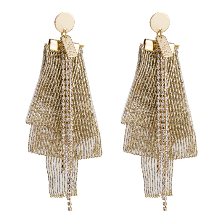 Alloy Fashion Tassel earring  (Alloy) NHWF3382-Alloy