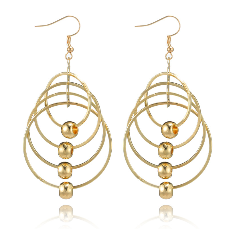 Fashion Alloy plating earring Geometric (Main color)NHGY1684-Main color