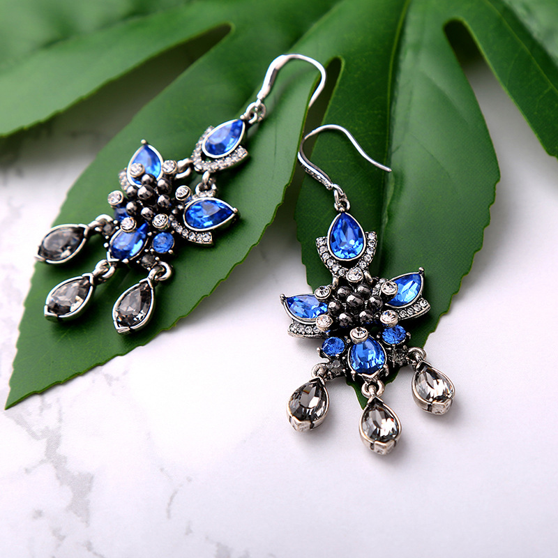 Alloy Fashion Flowers earring(Photo Color) NHQD5181-Photo Color