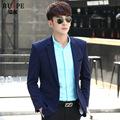 男式休闲西装商务秋季青年帅气外套韩版弹力针织修身西装一件代发