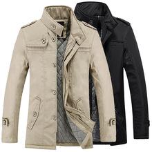 一件代發秋冬季新款男裝棉衣男士中長版修身棉服青年保暖棉襖批發