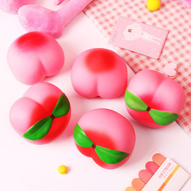 1595 simulation peach squeezing slow rebound tidy toy peach vent release pressure decompression toy PU