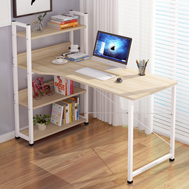 Desk bookshelf combination family student modern simple bedroom girl solid wood saving space boy economy type