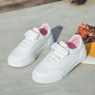 Pull back children's shoes spring and autumn new canvas shoes children's leisure sports shoes boys and girls Velcro baby shoes