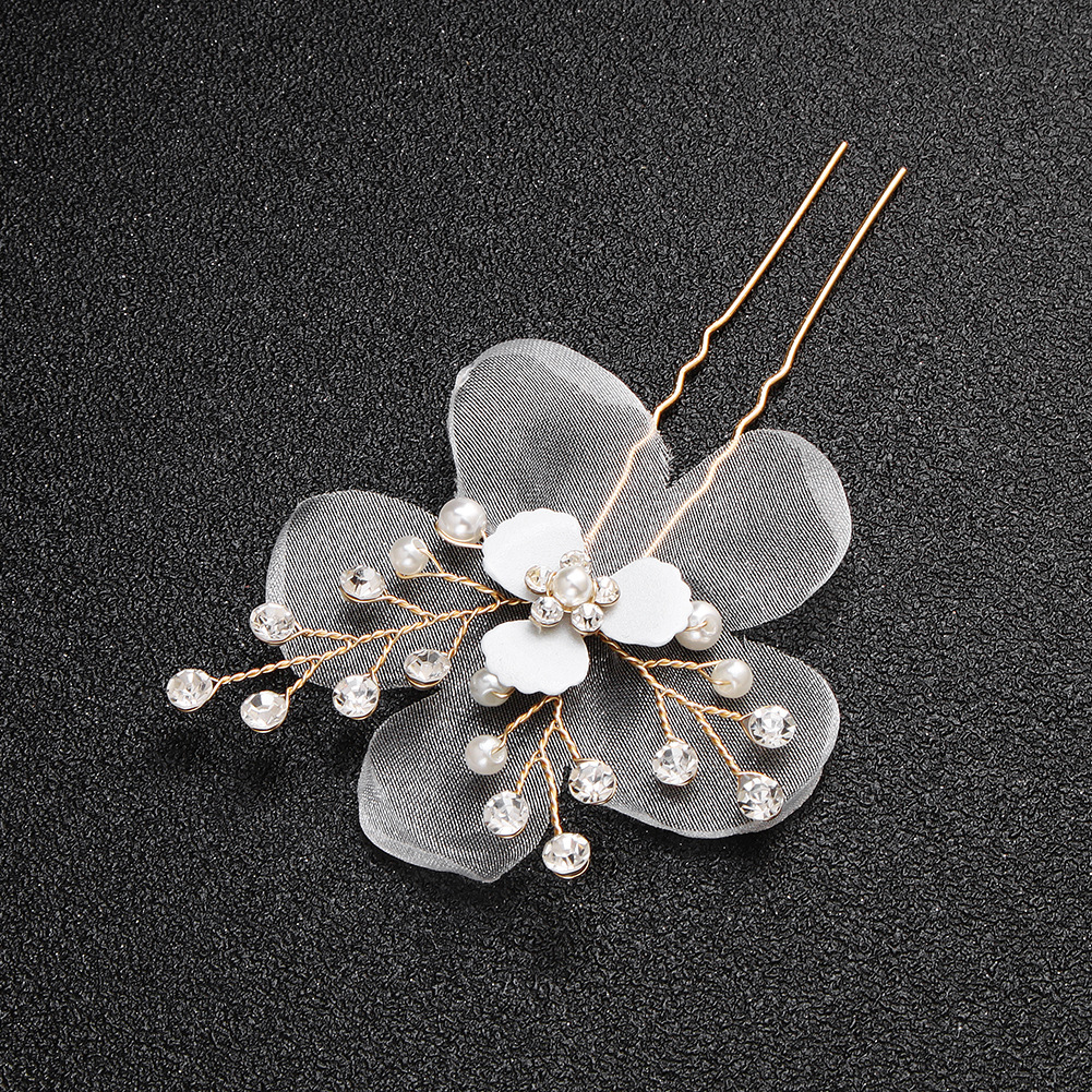 Cloth Fashion Flowers Hair accessories  Alloy NHHS0545Alloy