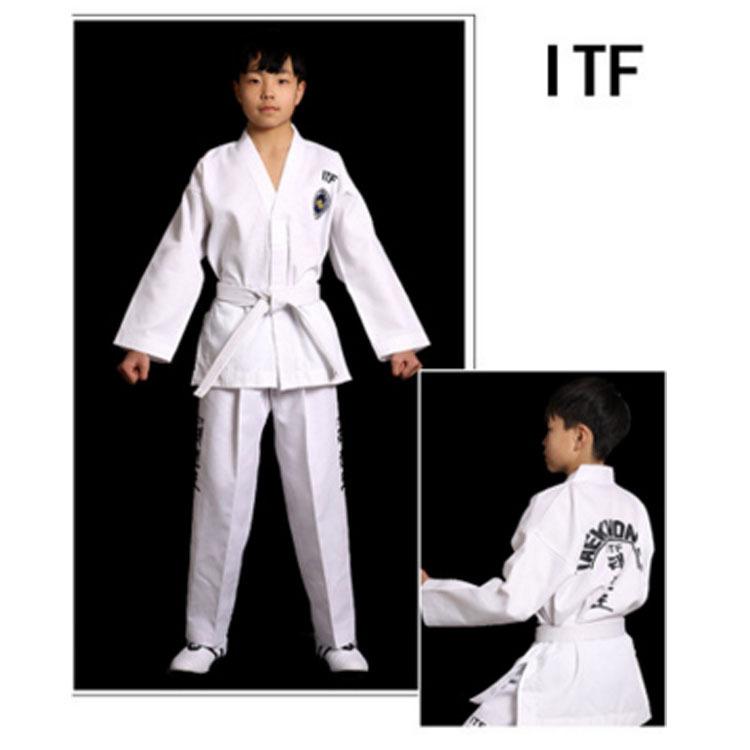 厂家直销ITF道服武圣夏季跆拳道服儿童成人男女款训练服教练服
