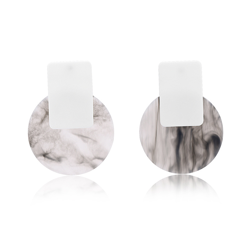 Acrylic Fashion Geometric earring  (61189514A) NHXS1875-61189514A