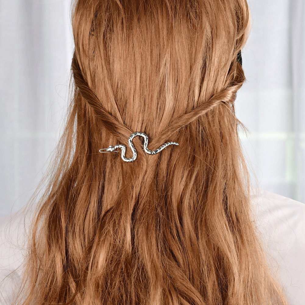 summer selling simple style creative lines cobra inlaid crystal hairpin fashion alloy  wholesale nihaojewelry NHBQ221763