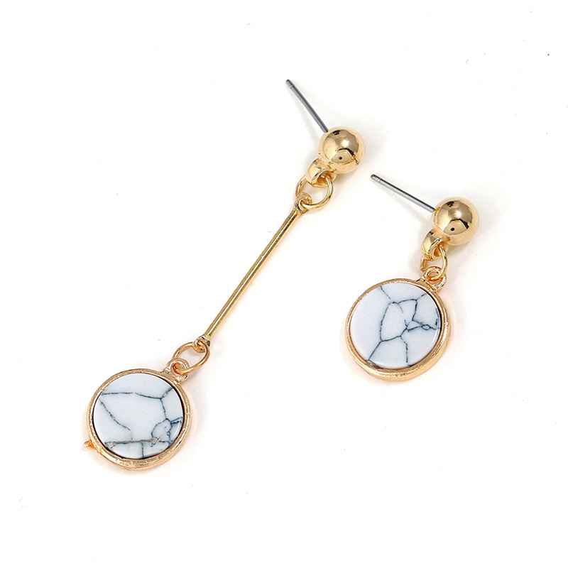 Alloy Fashion Geometric earring(white) NHNZ0424-white