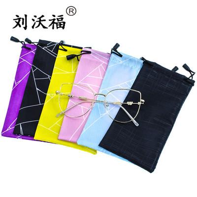 太阳眼镜布袋子 复合卡通防水眼镜布袋子 黑色超细纤维眼镜袋定制