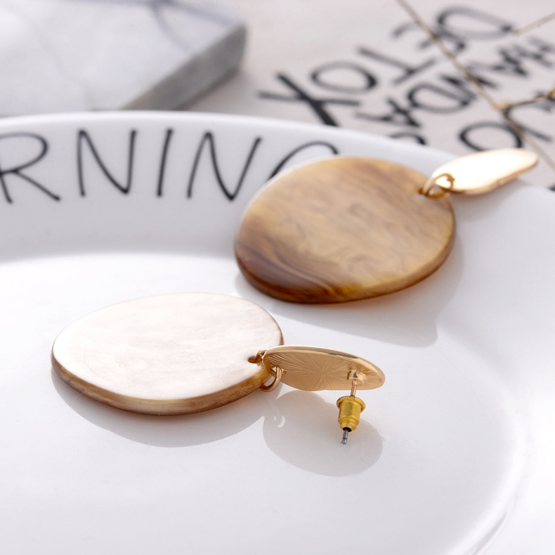 Plastic Simple Geometric earring  (Earrings) NHQS0012-Earrings