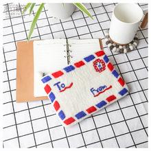 尼泊尔手工羊毛毡零钱包可爱信封邮件毛毡手拿包卡片包森女文艺风