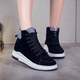 Students' flat-bottomed winter shoes with thick soles and velvet high-help sneakers women's casual cotton shoes women's shoes