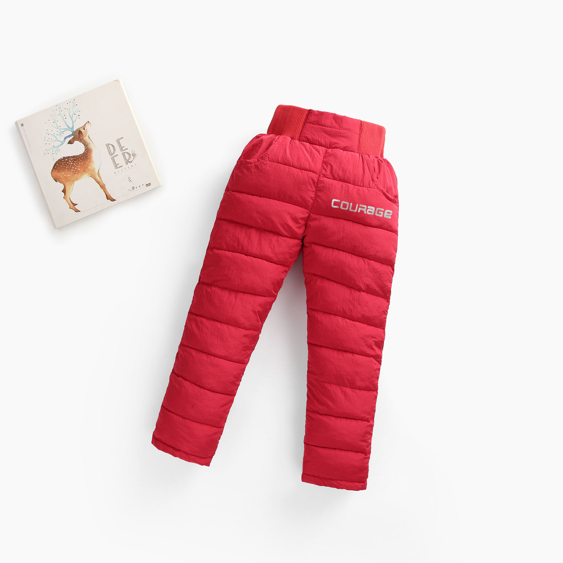 男童女童棉裤冬加绒加厚中大童宝宝羽绒棉裤外穿小孩高腰保暖长裤