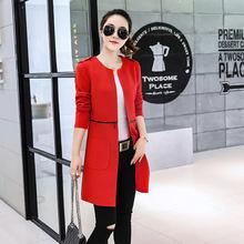 中长款短款两穿休闲外套女2018秋装新款女装韩版上衣时尚修身风衣