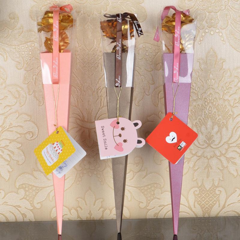 厂家直销24K金箔玫瑰永生花教师节母亲节创意礼品节庆礼物批发