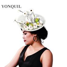 ebay速卖通爆款新款麻纱礼帽 新娘麻料头饰发饰圣诞派对礼帽