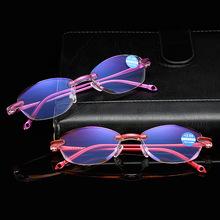 新款无框老花眼镜钻石切边老花镜女远视镜老光镜防蓝光厂家批发