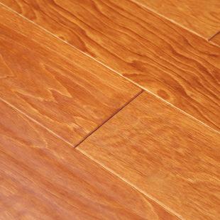 诚信厂家力荐多层实木地板木纹中式桦木隆福源E0油漆面国标地板