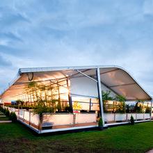 厂家现货批发户外可移动大型展览帐篷房 展览展厅弧形篷房定做