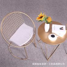 戶外休閑咖啡廳奶茶店金屬小圓桌椅子組合北歐現代陽臺桌椅三件套