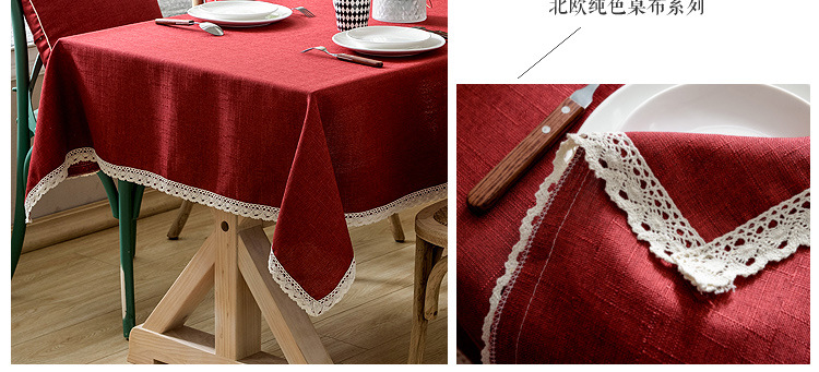Fashion cotton tablecloth kitchen living room multicolored NHSP134597