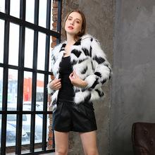 厂家直销皮草外套 仿皮草潮流女士外套 新款外贸短款女士皮草外套
