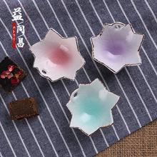 日式陶瓷小味碟 日本冰裂釉花朵珍味碟蘸醬碟料理餐具 廠家批發