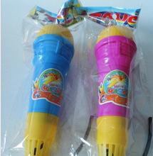 回音麥克風兒童創意玩具話筒 無需電池三色細回音筒加黑線