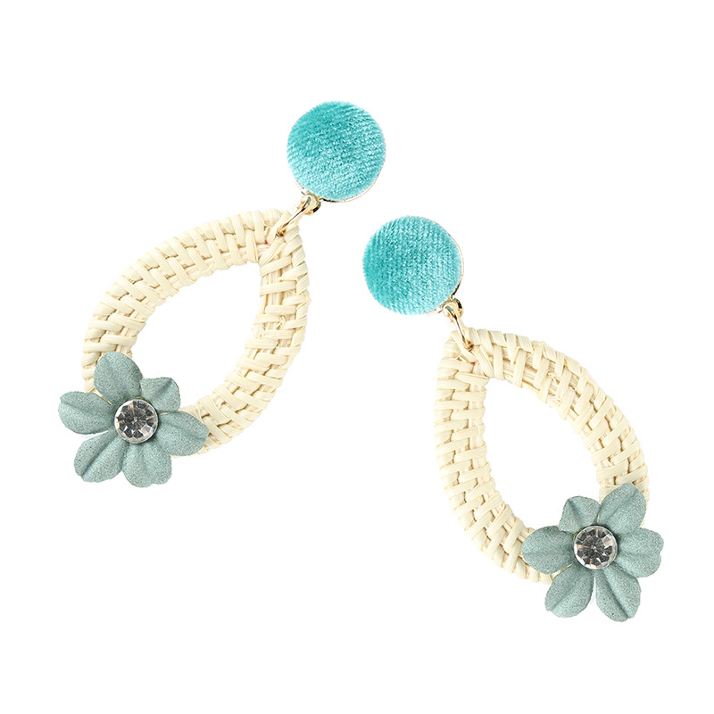 Alloy Simple Flowers earring  (red) NHJQ10632-red