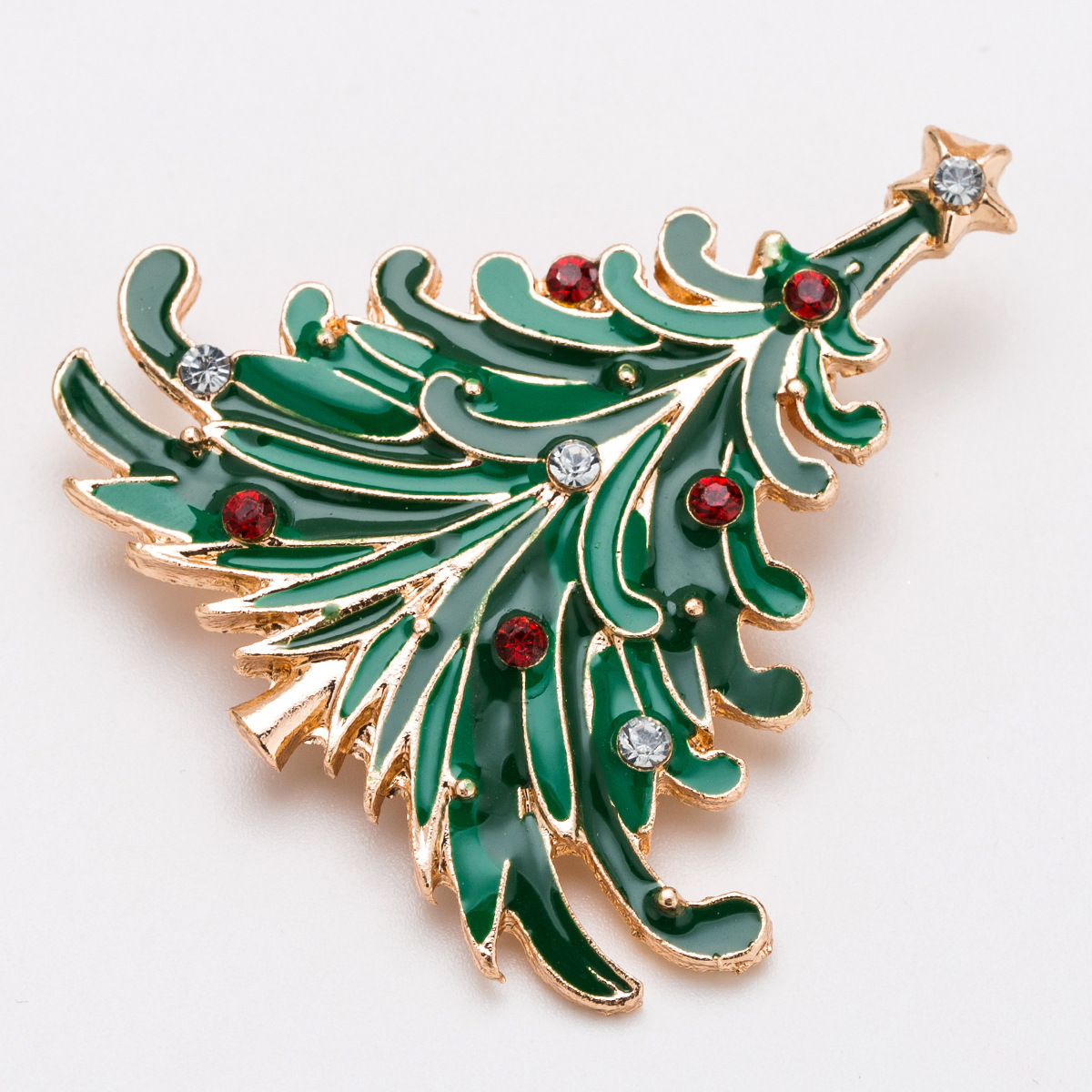 Alloy Fashion Geometric brooch(Christmas tree) NHJE2221-Christmas-tree