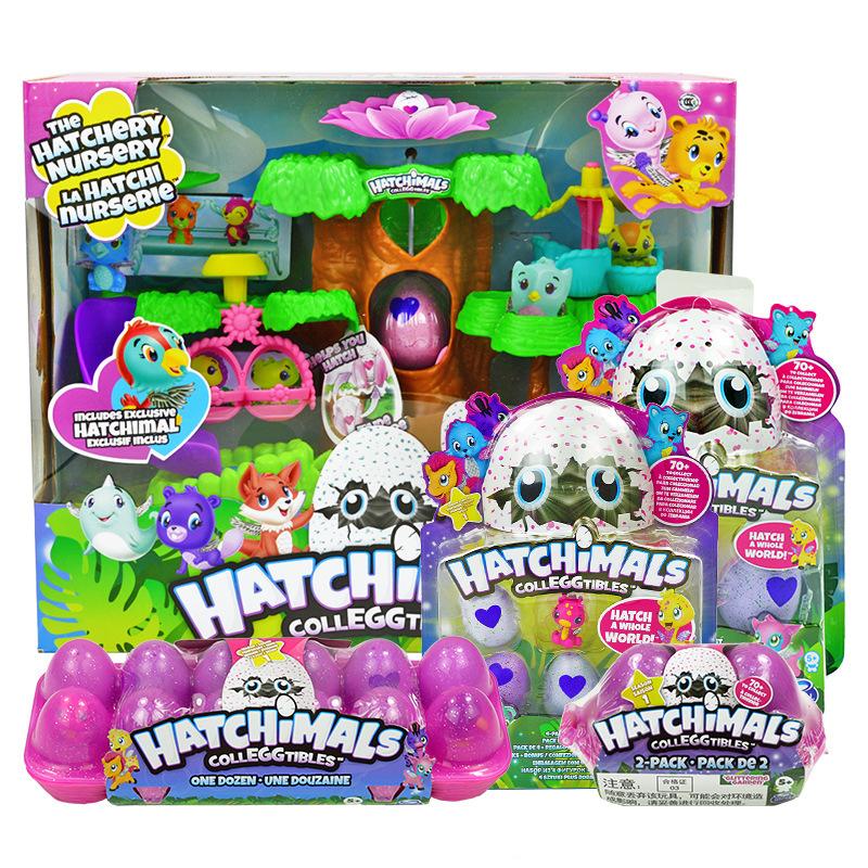 Hatchimals哈驰魔法蛋批发女孩玩具公仔动物模型儿童奇趣蛋宠物蛋