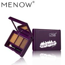 跨境热卖Menow/美诺E414彩妆3色眉粉持久不掉色立体外贸爆款