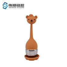 硅胶泡茶器小熊茶漏 厂家批发304不锈钢批发食品级茶包过滤泡茶器