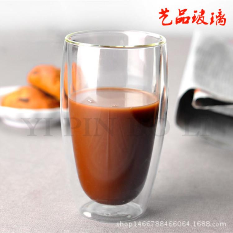 玻璃茶具耐高温耐热双重保温杯  加厚单杯功夫茶具品名杯泡茶器