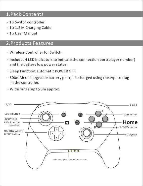 Back To Search Resultsconsumer Electronics Original Usb Wired Controller Gamepad For Nintend Switch Ns Built-in 6-axis Sensor Support Switch Pc Games Play With Turbo Button R20