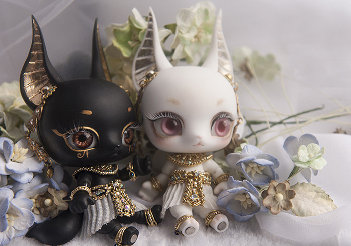 1//12 Anubis fantasy resin figures little bjd baby doll Palm dolls toys gifts