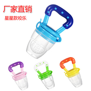 Factory direct supply of baby fruit and vegetable joy, fruit food supplement, bite bite, silicone bite bag, baby feeding tableware