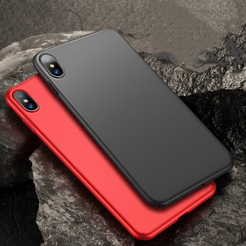 Applicable Apple 7/8plus mobile phone case all-inclusive ultra-thin hard shell frosted iPhoneXSMAX China red mobile phone case