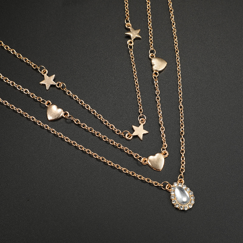 Alloy Simple Geometric necklace(Gold)Fashion Jewelry NHGY2963-Gold