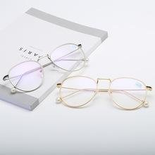 2019款珍珠眼镜100-600成品近视眼镜 女式潮流近视眼镜有度数批发